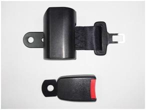 Recoil lap belt and reciever